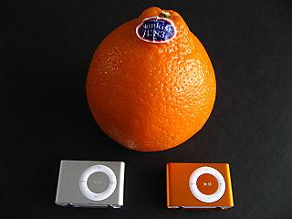 Orange ipod