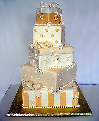 Orange bride cake