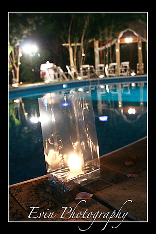 Pool and lantern