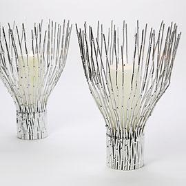 Winter wonderland candle holders