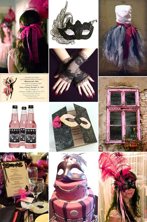 Masquerade party collage